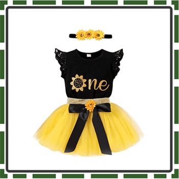 Best Sun flower Baby Girl First Birthday Outfits