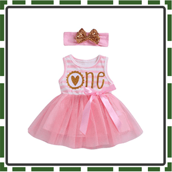 Best Striped Baby Girl First Birthday Outfits