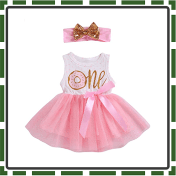 Best Sleeveless Baby Girl First Birthday Outfits