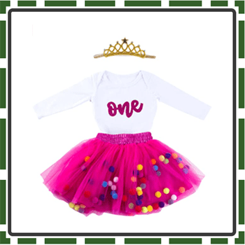 Best Glitter Baby Girl First Birthday Outfits